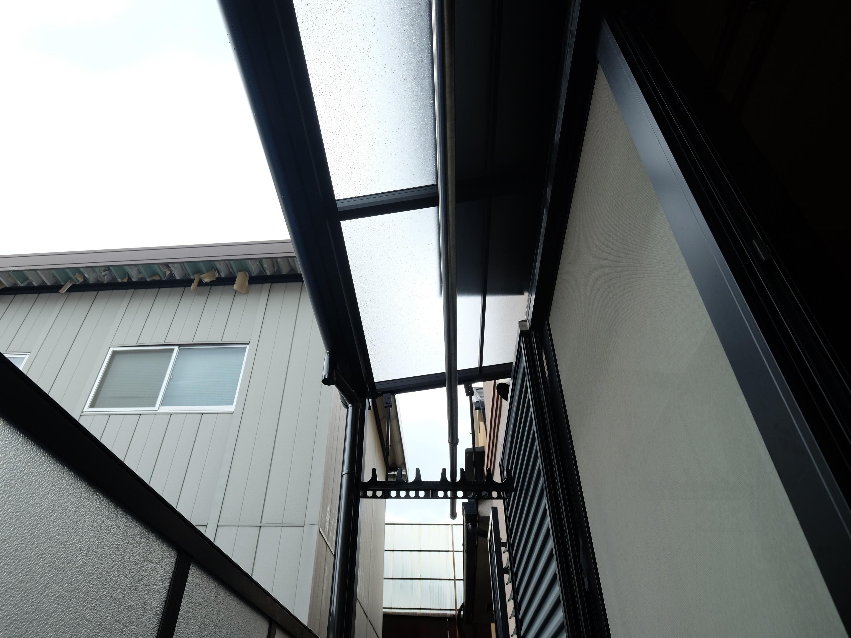 1階幅狭テラス屋根取付