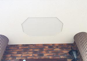 玄関ポーチ天井の飾り段を浅くしました!